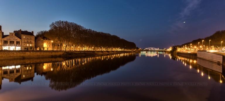 Angers, la Maine vue depuis le pont de Verdun