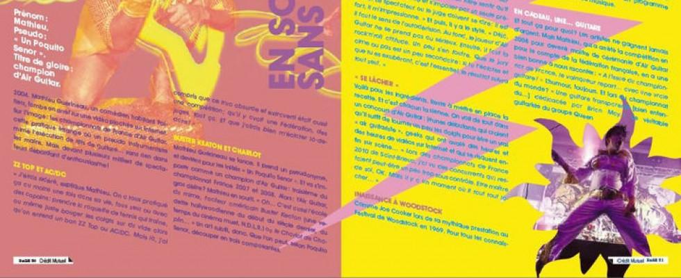 «un poquito Senor» illustrant un article dans un magazine du Crédit Mutuel