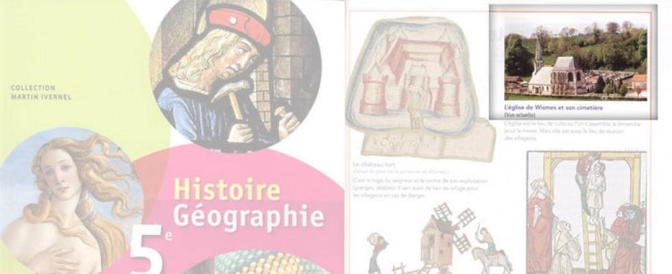 Photo du village de Wismes dans un livre d'histoire 5e – Hatier