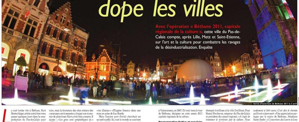 Illustration en double page sur l'ouverture de Béthune 2011