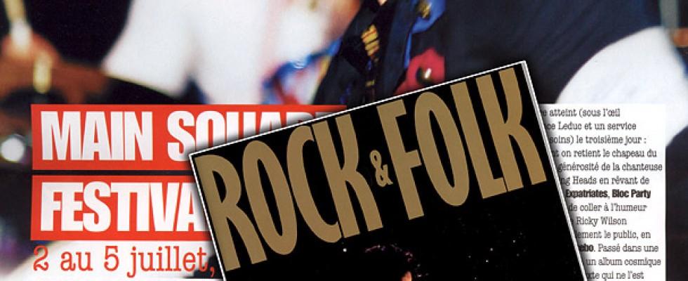 Coldplay, en pleine page dans le magazine Rock & Folk d'août 2009 (photo prise au Main Square Festival 2009)