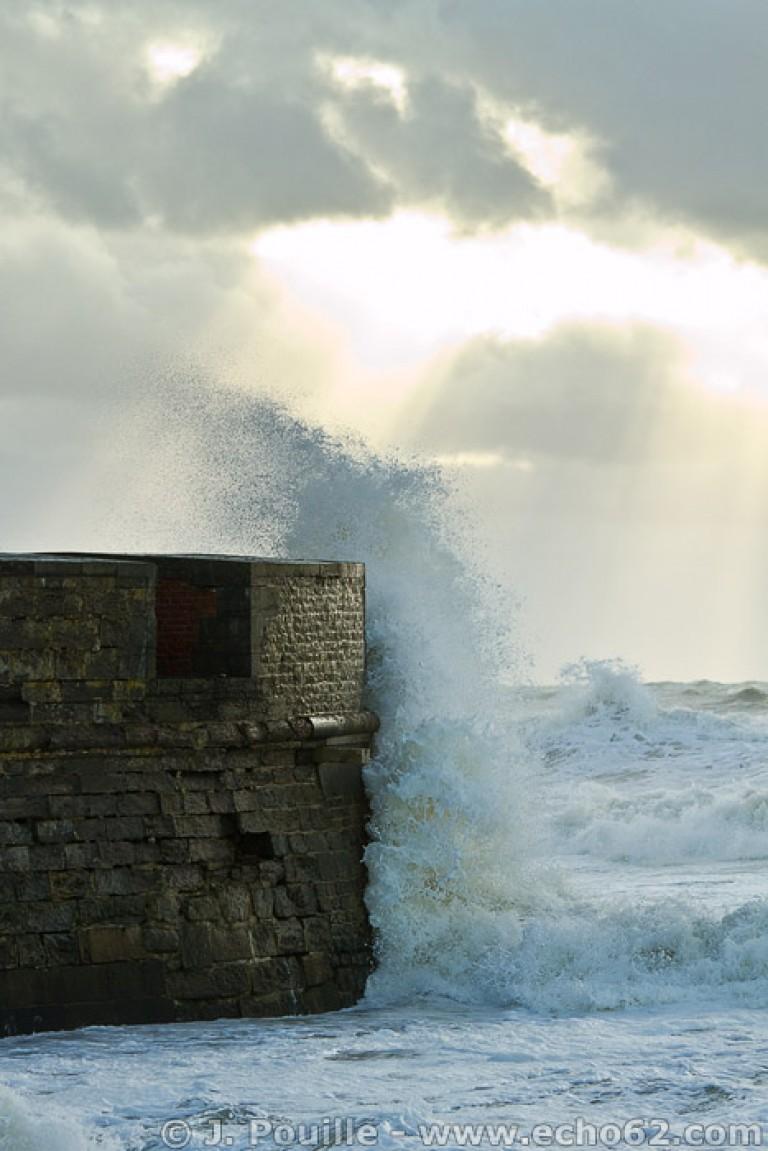 Tempête Joachim sur la côte d'Opale en décembre 2011-43
