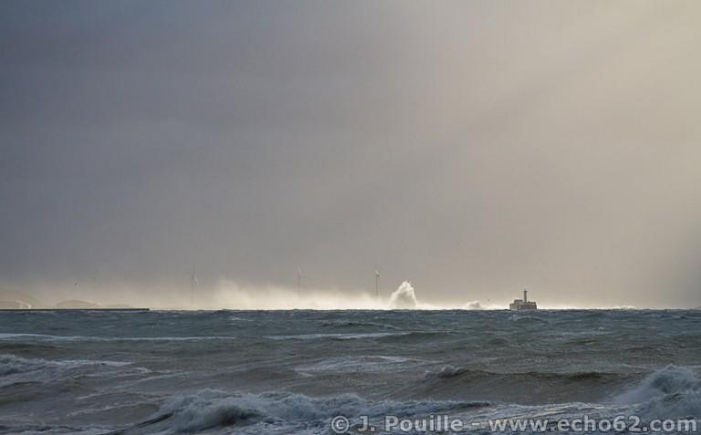 Tempête Joachim sur la côte d'Opale en décembre 2011-2