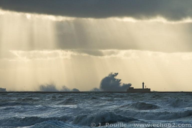 Tempête Joachim sur la côte d'Opale en décembre 2011-11