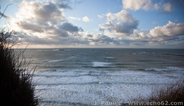 Tempête Joachim sur la côte d'Opale en décembre 2011-12