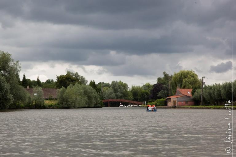 Dans le Marais Audomarois (infrarouge), juillet 2012