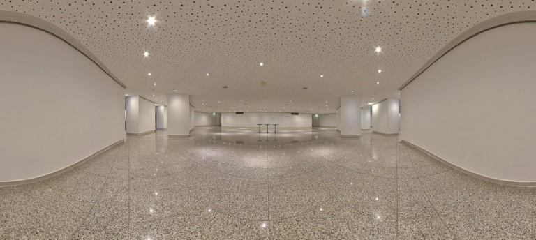 Panoramique salle d'exposition du Théâtre d'Angers