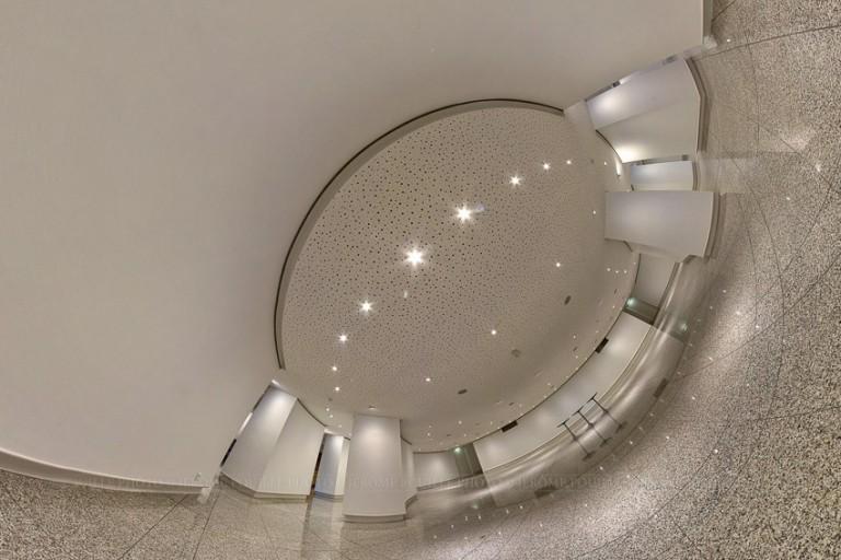 Petite planète de la salle d'exposition du théâtre d'Angers