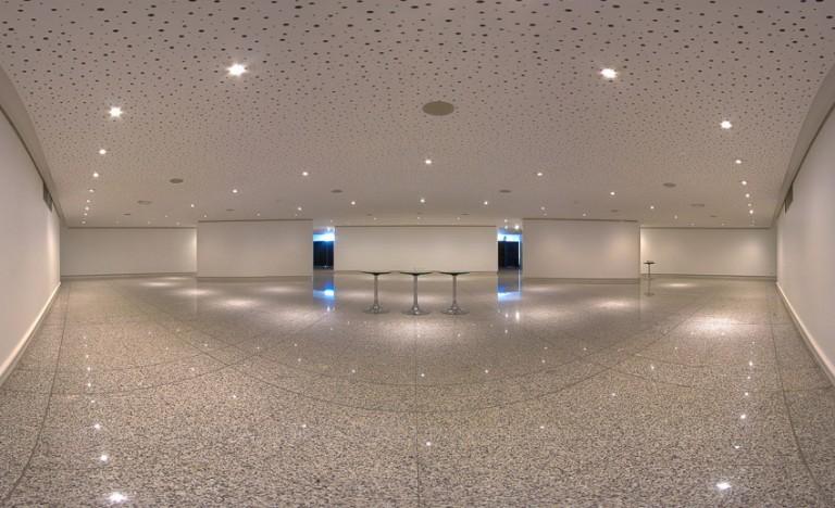 Panoramique salle d'exposition du grand Théâtre d'Angers