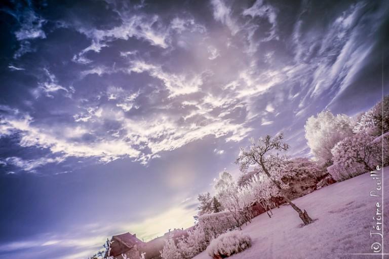 Coucher de soleil en infrarouge HDR