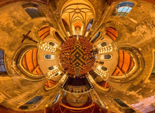 image 360° des Illuminations 2013 de l'église Notre Dame de Calais