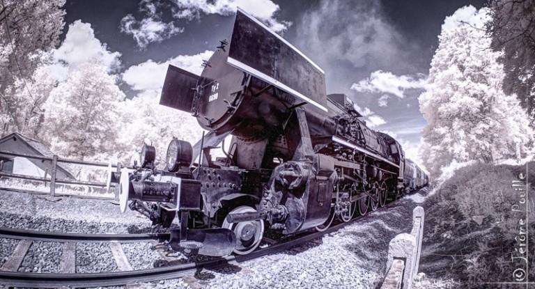 Train Touristique de la vallée de l'Aa infrarouge
