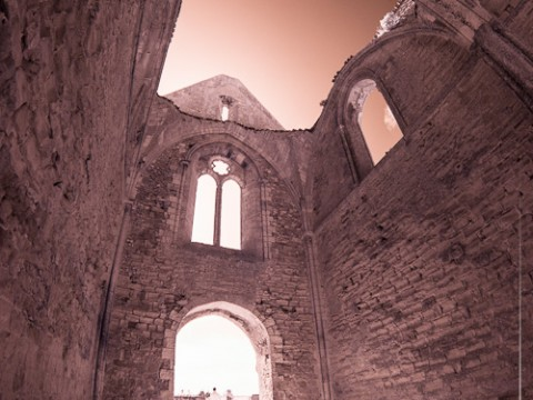 Abbaye Notre-Dame-de-Ré Les Châteliers infrarouge