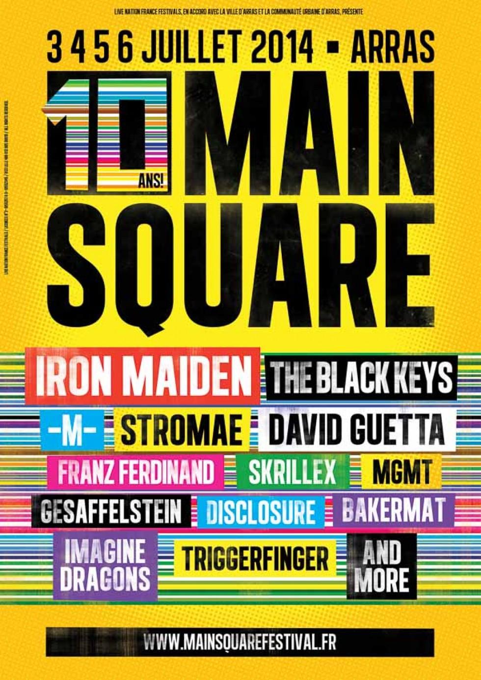 Le Main Square Festival fête ses 10 ans à Arras, sur 4 jours, avec Iron Maiden !