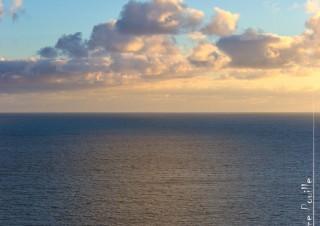 Coucher de soleil du haut du phare des Baleines au coucher de soleil