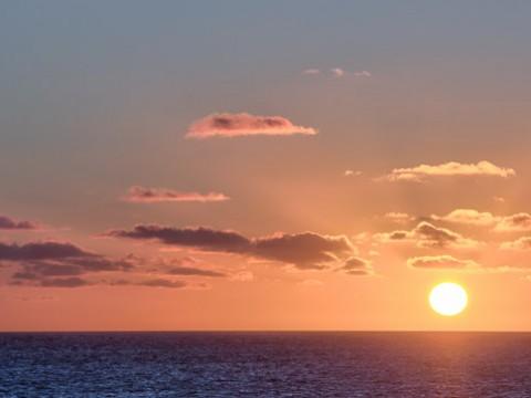 Coucher de soleil sur l'île de ré, août 2013