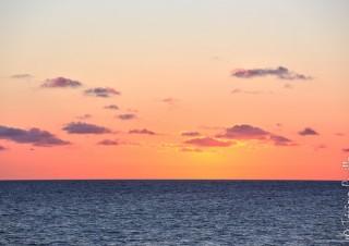 coucher de soleil sur l'île de ré