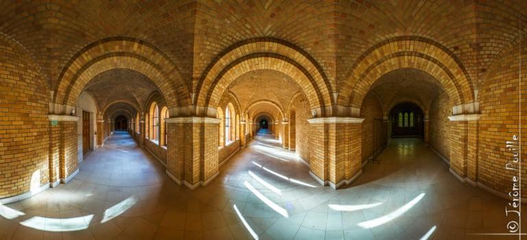 Cloître de l'Abbaye de Belval, panoramique