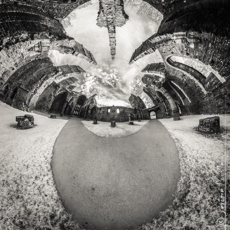 Abbaye de Villers (B), panoramique infrarouge