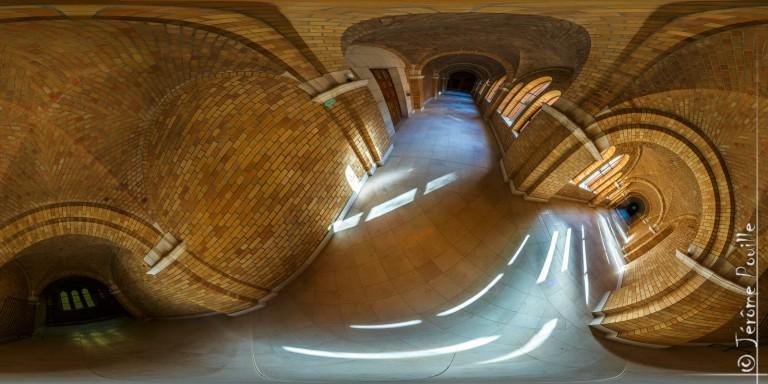Courbes du cloître de l'abbaye de Belval