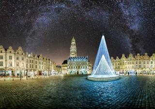 Places d'Arras, noël 2014 Version avec voie lactée
