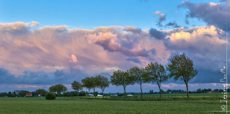 Ciel du soir sur le Pas-de-Calais