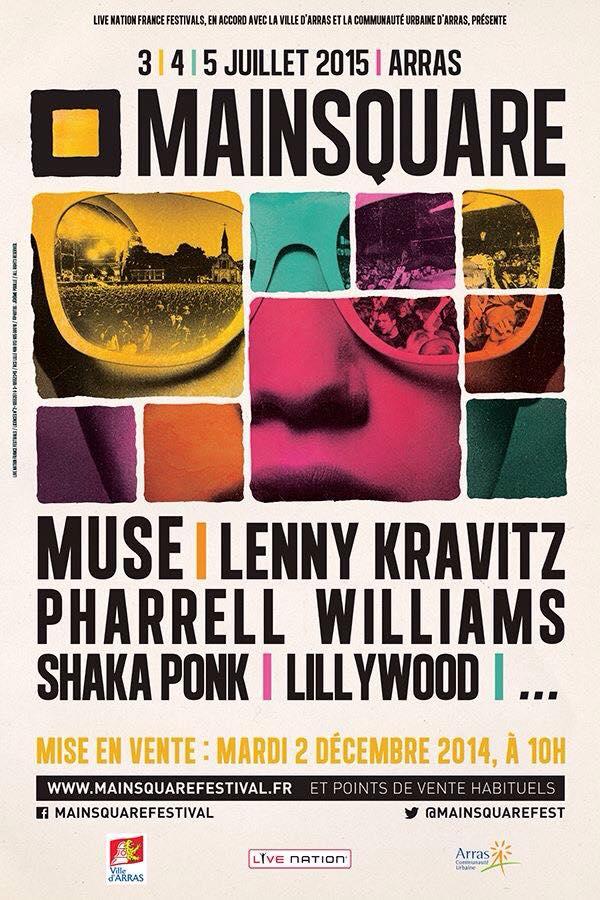 Affiche Mainsquare festival 2015