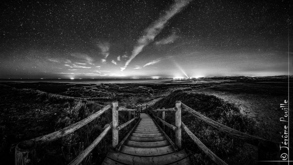 Nightscape @ la Pointe aux Oies version B&W