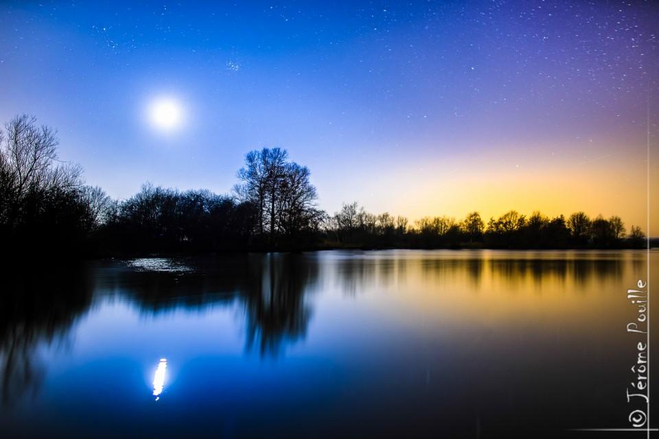 Nightscape in Romelaere