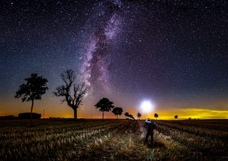alone under the stars…