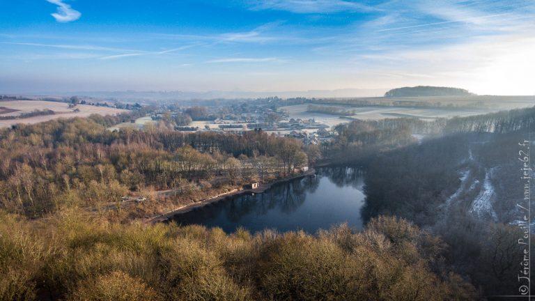 Un matin d'hiver au dessus de Beugin