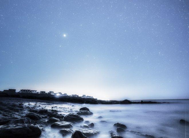 Nuit bleue sur la côte d'Opale