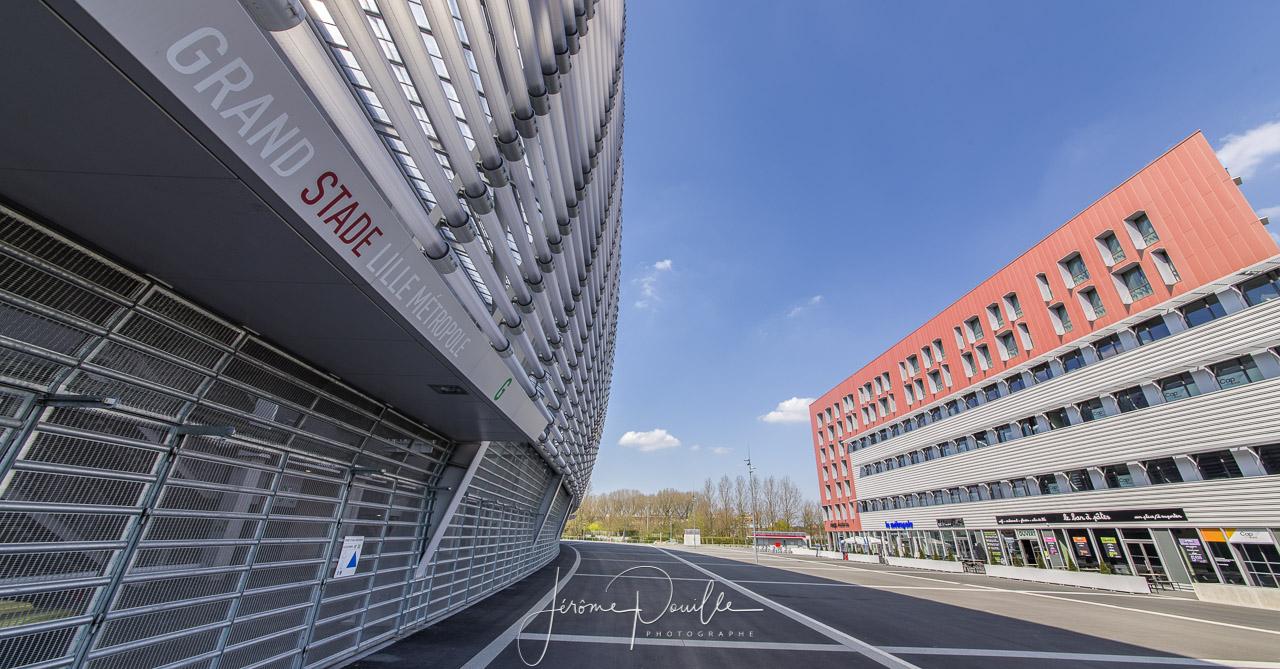 Grand Stade Lille Métropole, Extérieurs avril 2013