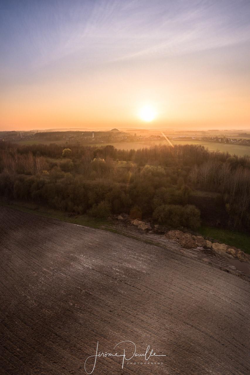 Coucher de soleil au dessus de l'Artois